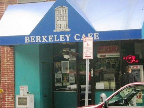 Front of Berkeley Cafe in Raleigh- NC Triangle Dining