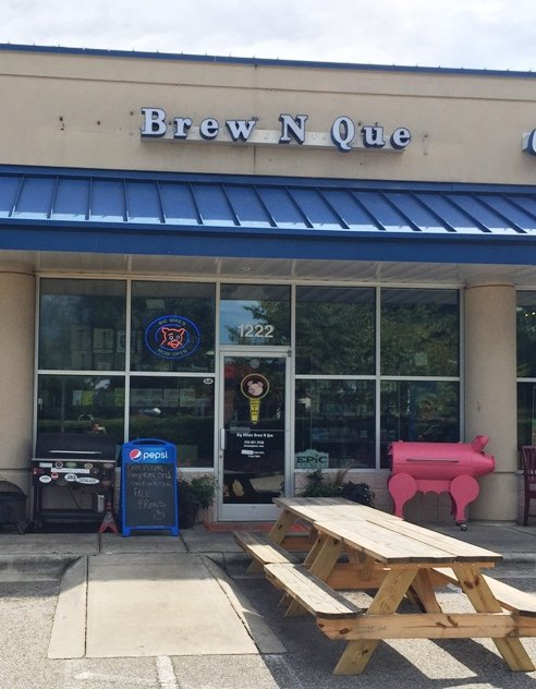 Front of Brew n Que, Cary- NC Triangle Dining