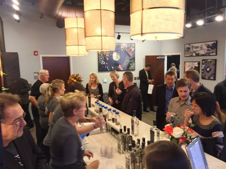Tasting in action at the Durham Distillery - NC Triangle Dining