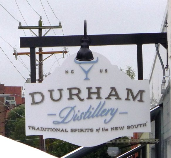 Signage at the Durham Distillery - NC Triangle Dining