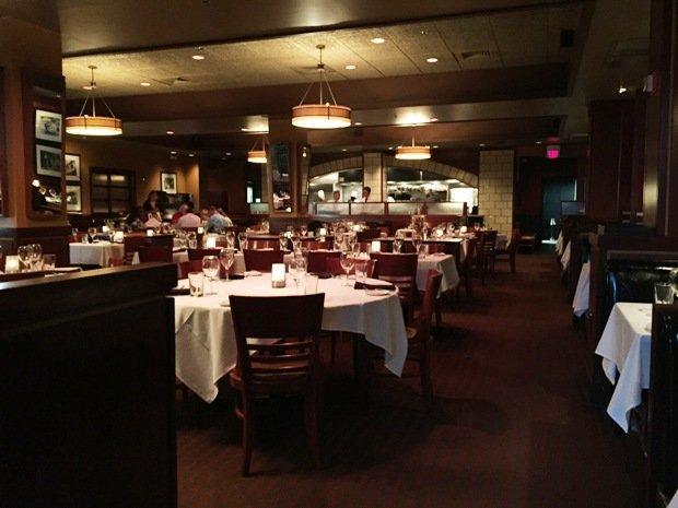 Dining room at Sullivan's Steakhouse in Raleigh- NC Triangle Dining