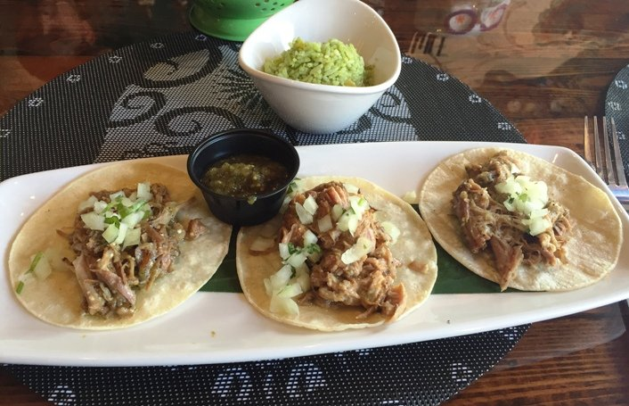 Carnitas tacos at Gonza Tacos y Tequila in Raleigh- NC Triangle Dining