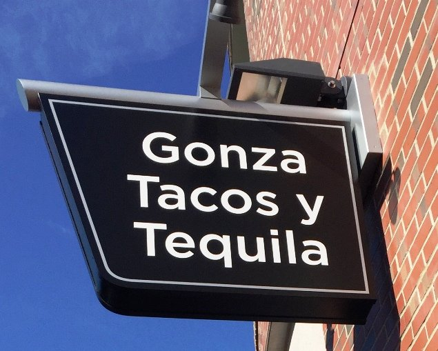Sign for Gonza Tacos y Tequila in Raleigh- NC Triangle Dining