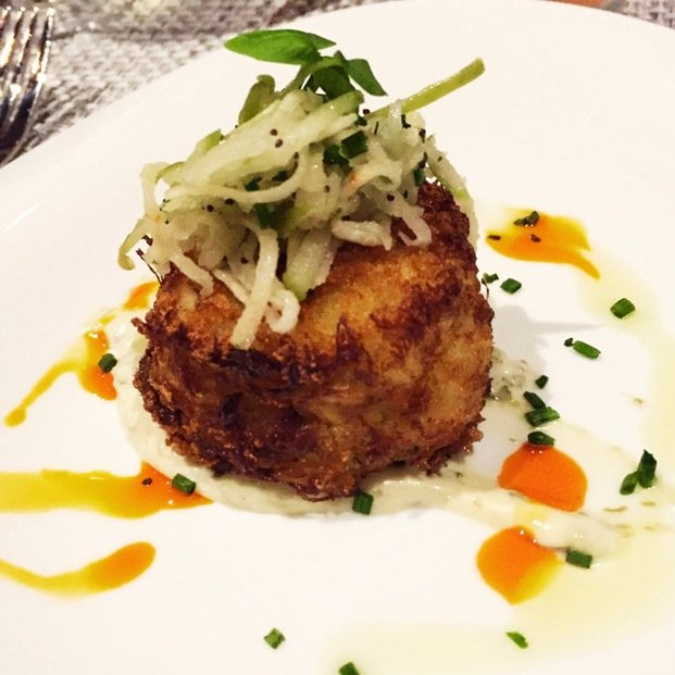 Crab-cake at Trilogy in Chapel Hill- NC Triangle Dining