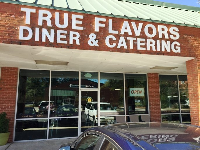 Front of True Flavors Diner in Durham - nctriangledining.com