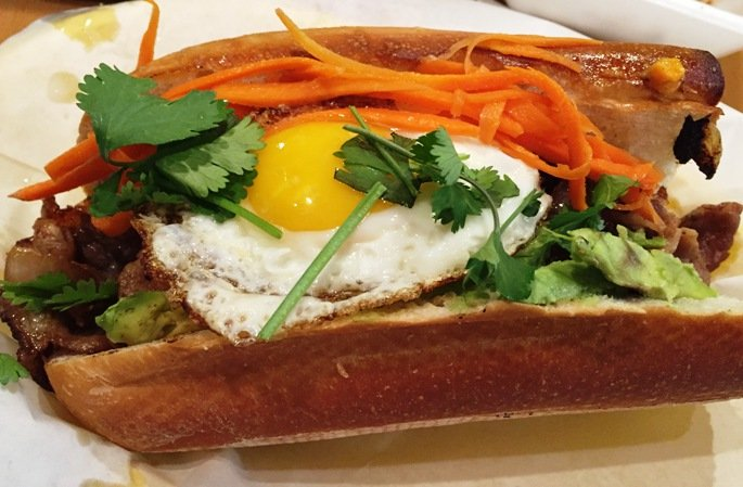 Cali sunset banh mi at Ms Mong in Chapel Hill- NC Triangle Dining