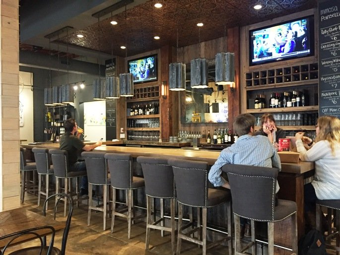 Bar area at Vita Vite in Raleigh- NC Triangle Dining