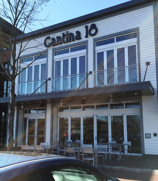 Front of new Cantina 18 in Raleigh- NC Triangle Dining