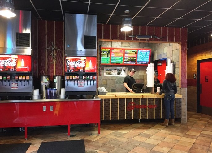 Order counter at Cook Out RTP, Durham- NC Triangle Dining