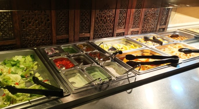 Cold buffet at India Gate in Durham- NC Triangle Dining