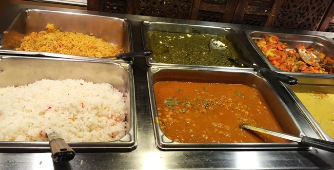 Hot buffet at India Gate in Durham- NC Triangle Dining