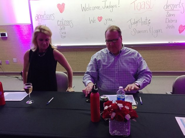Gina and Jeff, entree judges at the 2016 Toast to the Triangle in Raleigh- NC Triangle Dining