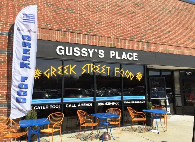 Front of Gussy's Place in RTP-Durham- NC Triangle Dining
