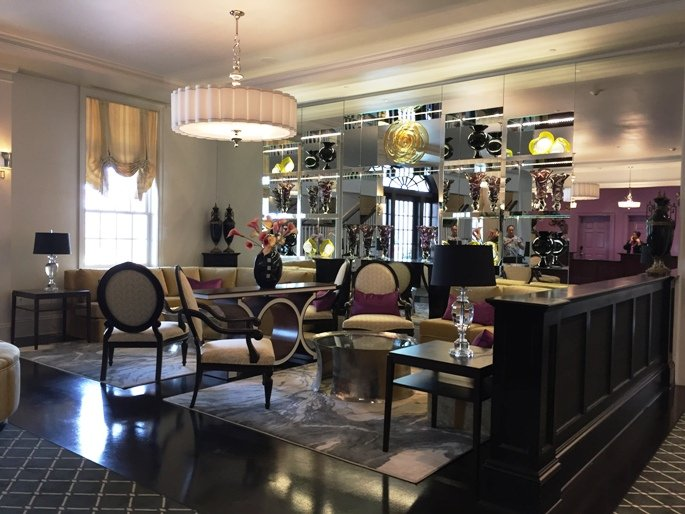 Lobby at the Mayton Inn, Cary- NC Triangle Dining
