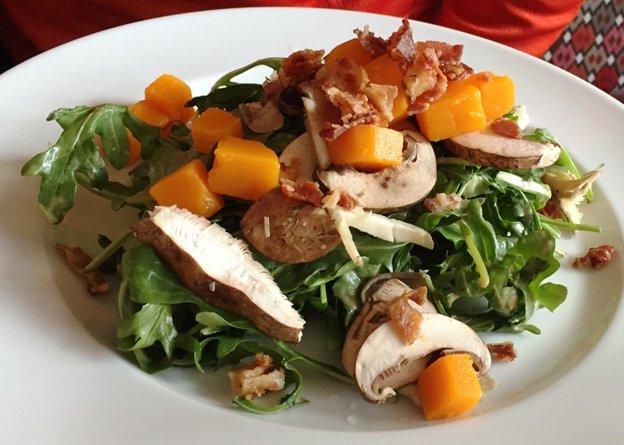 Butternut squash salad at the Mayton Inn, Cary- NC Triangle Dining