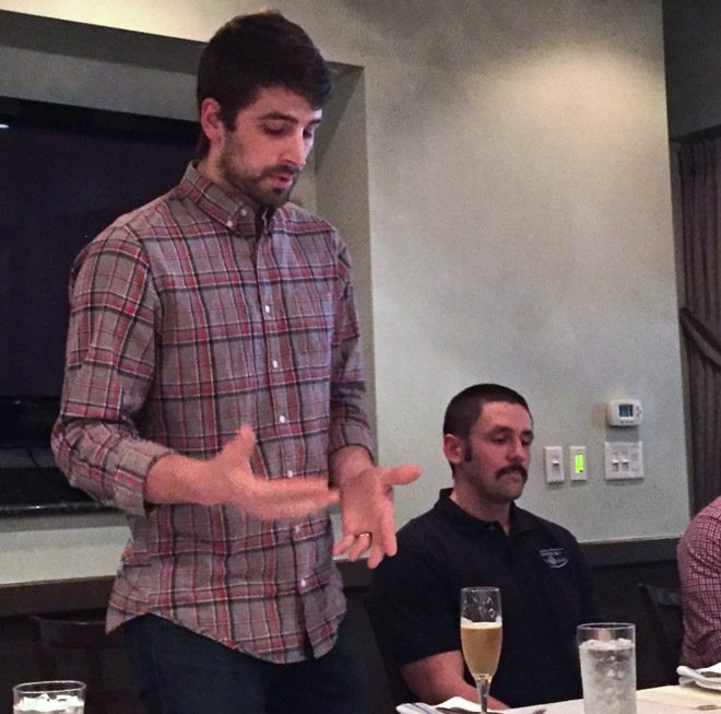 Bruepoint brewmaster Brad at Midtown Grille in Raleigh- NC Triangle Dining