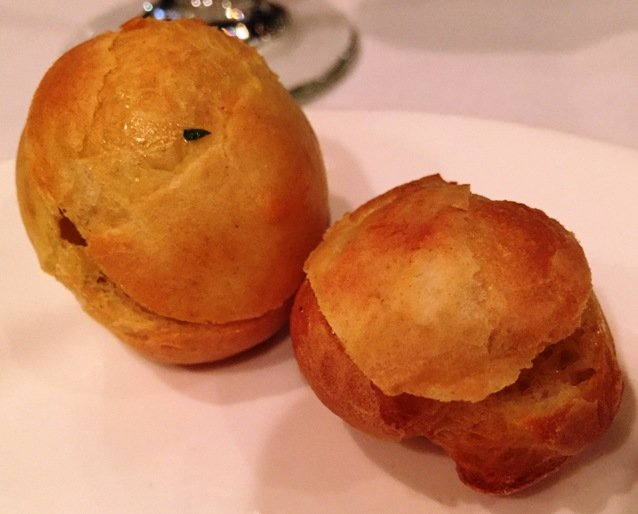 Bacon salad profiteroles at Midtown Grille in Raleigh- NC Triangle Dining