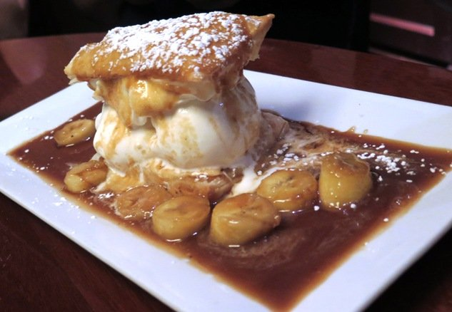 Bananas foster at Winston's Grille in Raleigh- NC Triangle Dining