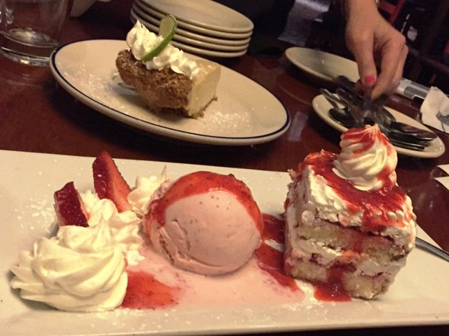Strawberry shortcake at Winston's Grille in Raleigh- NC Triangle Dining
