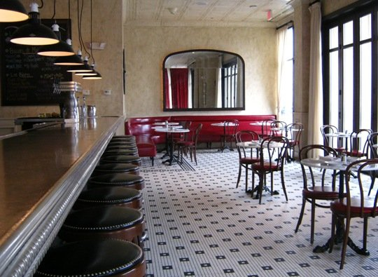 Bar area at Coquette in Raleigh- NC Triangle Dining