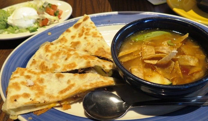 Brisket quesadilla at On the Border in Cary- NC Triangle Dining