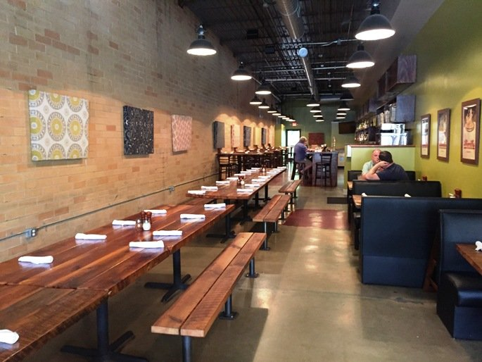 Communal tables at the Boot in Durham- NC Triangle Dining