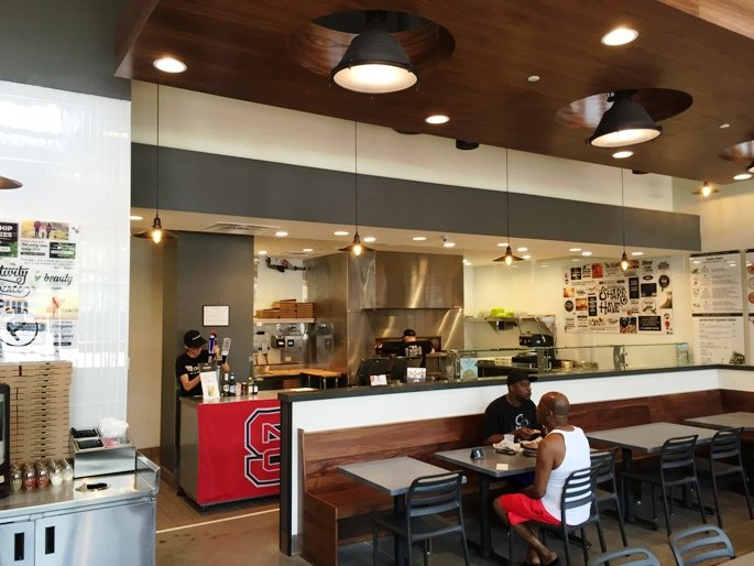 Mod interior at Pieology near NC State in Raleigh- NC Triangle Dining