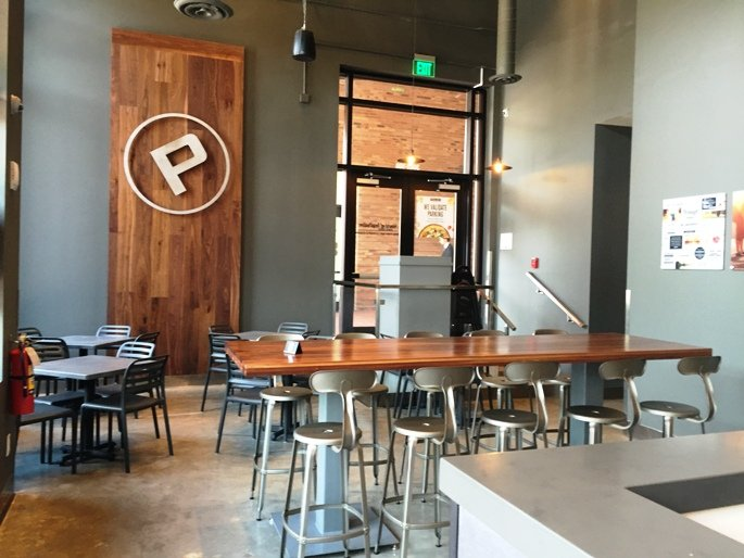 Dining area at Pieology near NC State in Raleigh- NC Triangle Dining