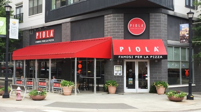 Front of Piola in North Hills, Raleigh- NC Triangle Dining