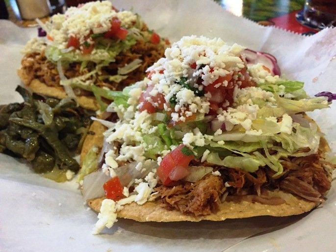 Carnitas tacos at Las Marias Tacos y Pupusas in Raleigh - nctriangledining.com