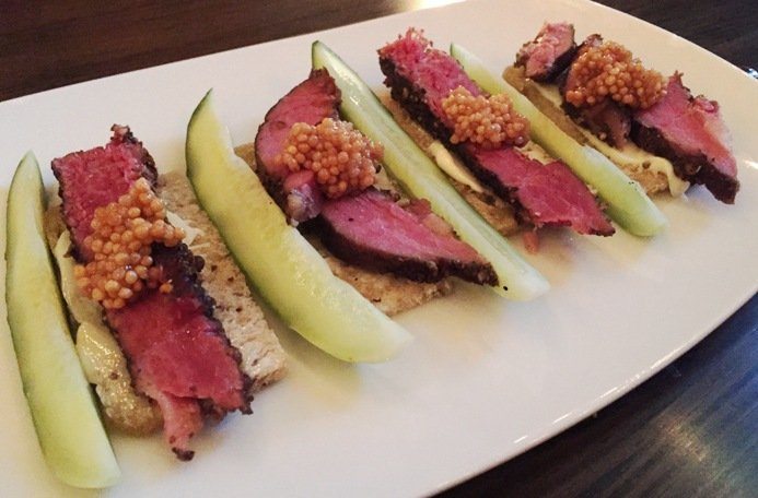 Pastrami with rye plate at Littler in Durham- NC Triangle Dining