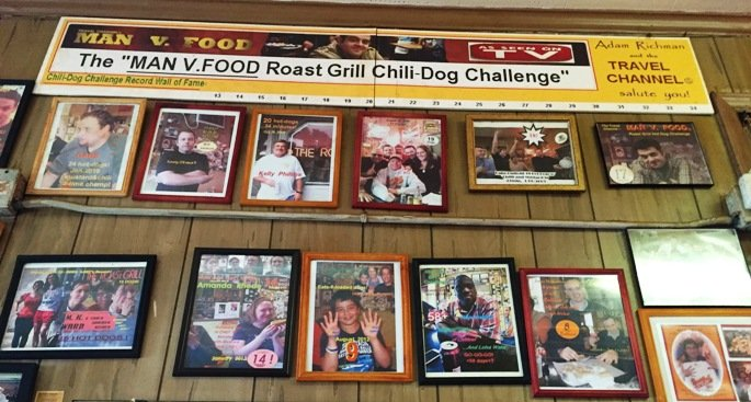 Wall of fame at the Roast Grill in Raleigh- NC Triangle Dining