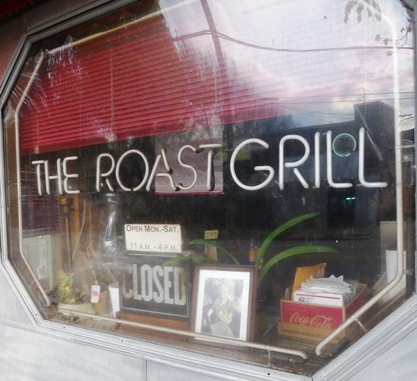 Window at the Roast Grill in Raleigh- NC Triangle Dining