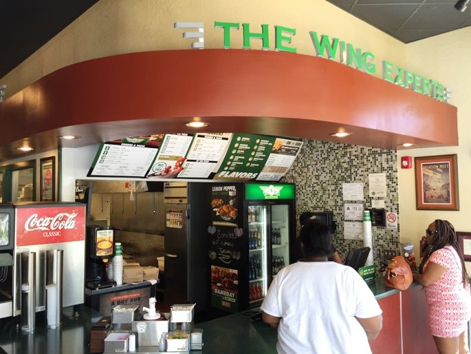 Order counter at Wing Stop in Raleigh- NC Triangle Dining