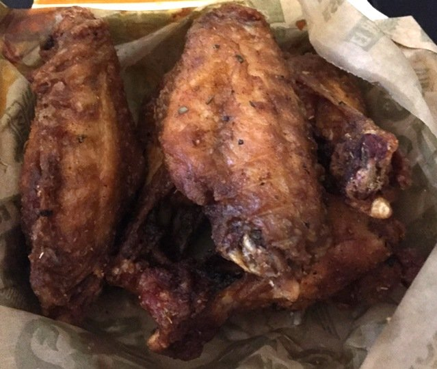 Garlic-parm wings at Wing Stop in Raleigh- NC Triangle Dining