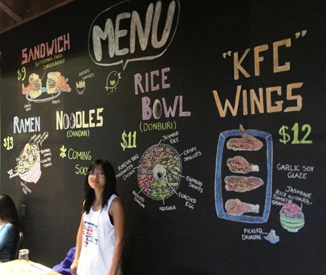 Chalkboard menu at M Kokko in Durham- NC Triangle Dining
