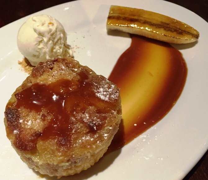 Banana bread pudding at ORO in Raleigh- NC Triangle Dining