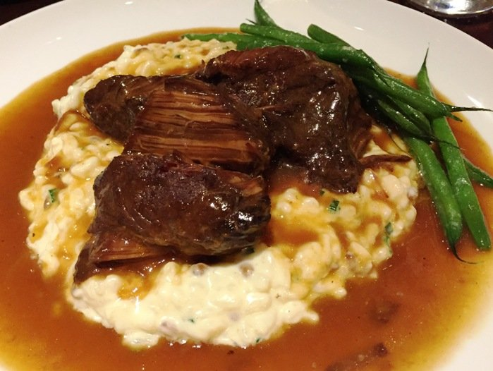 Short ribs over risotto at ORO in Raleigh- NC Triangle Dining