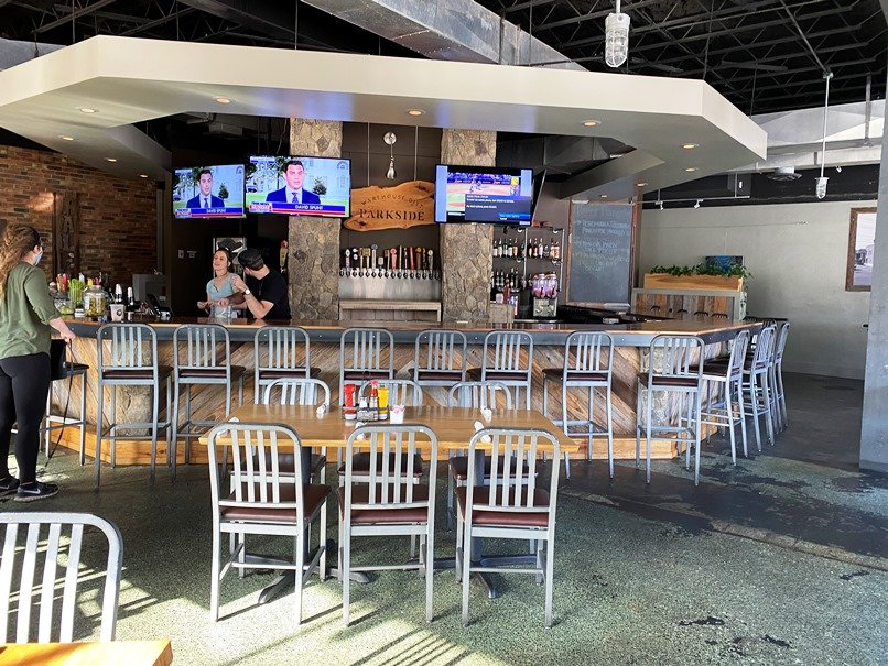 Modern interior at Parkside Restaurant in Raleigh- NC Triangle Dining