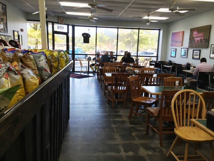 Dining area at Cheerz Deli in Durham - NC Triangle Dining