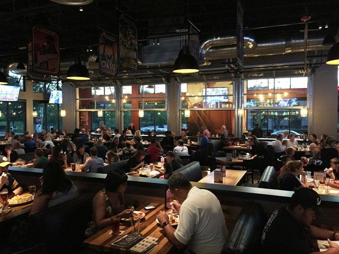 Dining Room At Bj S Restaurant And Brewhouse In Cary Nc Triangle