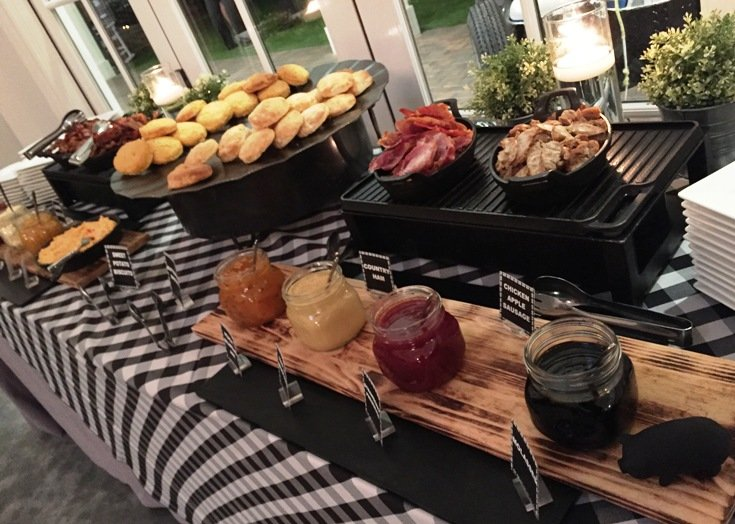 Biscuit station for Southland BBQ Catering media event - NC Triangle Dining