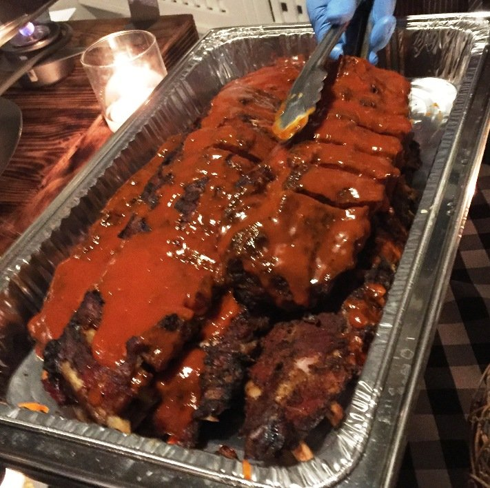 Babyback ribs for Southland BBQ Catering media event - NC Triangle Dining