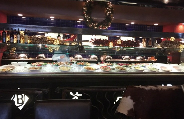 Buffet area at Brasa Brazilian Steakhouse in Raleigh - NC Triangle Dining