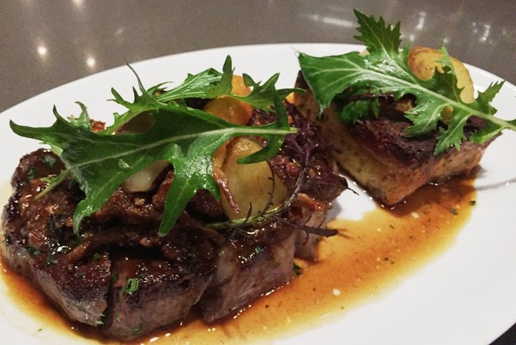 Ribeye with mushroom at Crawford and Son in Raleigh - NC Triangle Dining