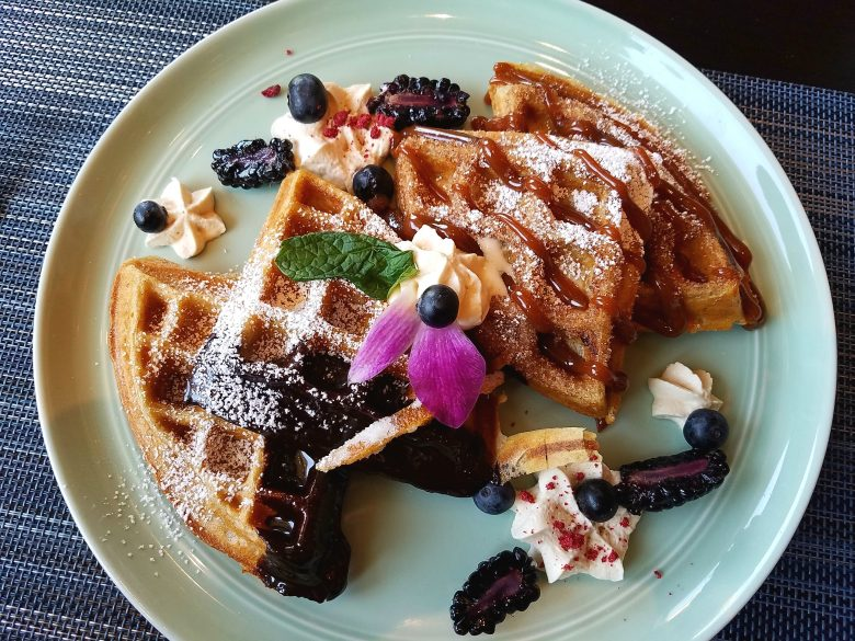 Churro waffles at soca in Raleigh - nctriangledining.com