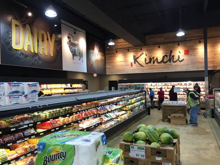 Grocery area at H Mart in Cary - NC Triangle Dining