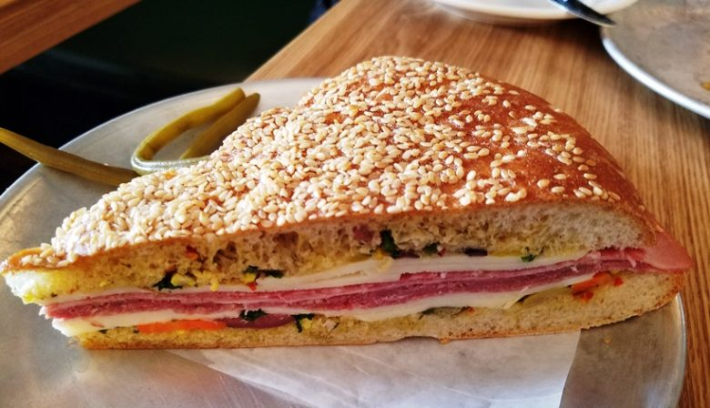 Muffaletta sandwich at Hummingbird in Raleigh - nctriangledining.com