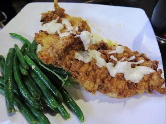Frizzled chicken at the new Tobacco Road Sports Raleigh - NC Triangle Dining