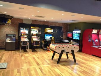 Game room at the new Tobacco Road Sports Raleigh - NC Triangle Dining